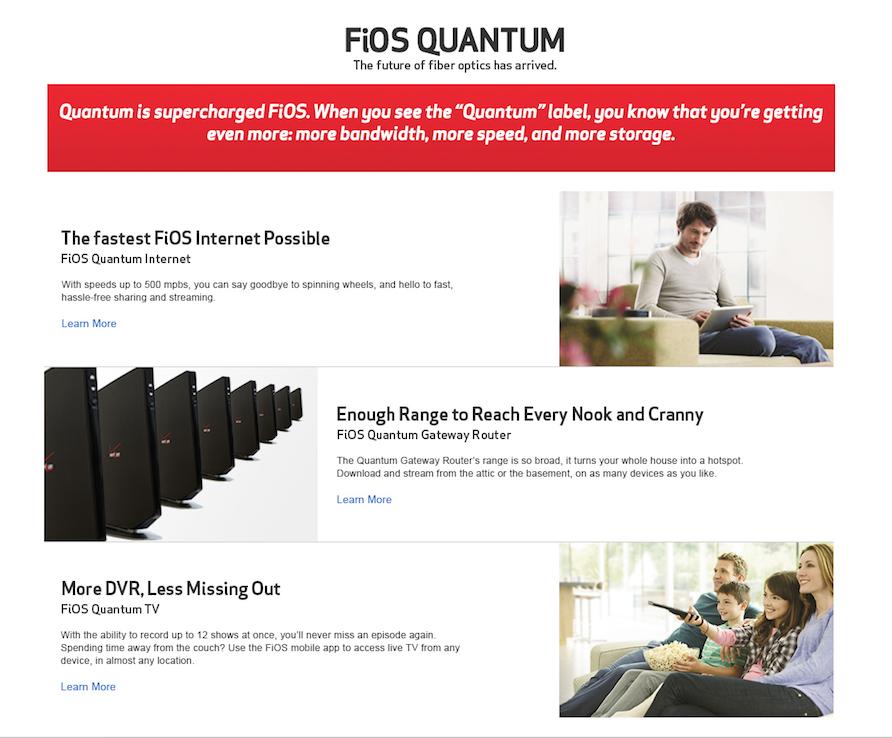 Verizon Quantum Copy