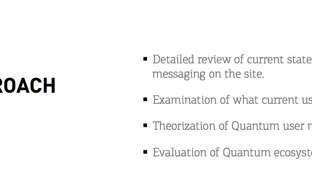 Defining a Strategic Approach for Quantum