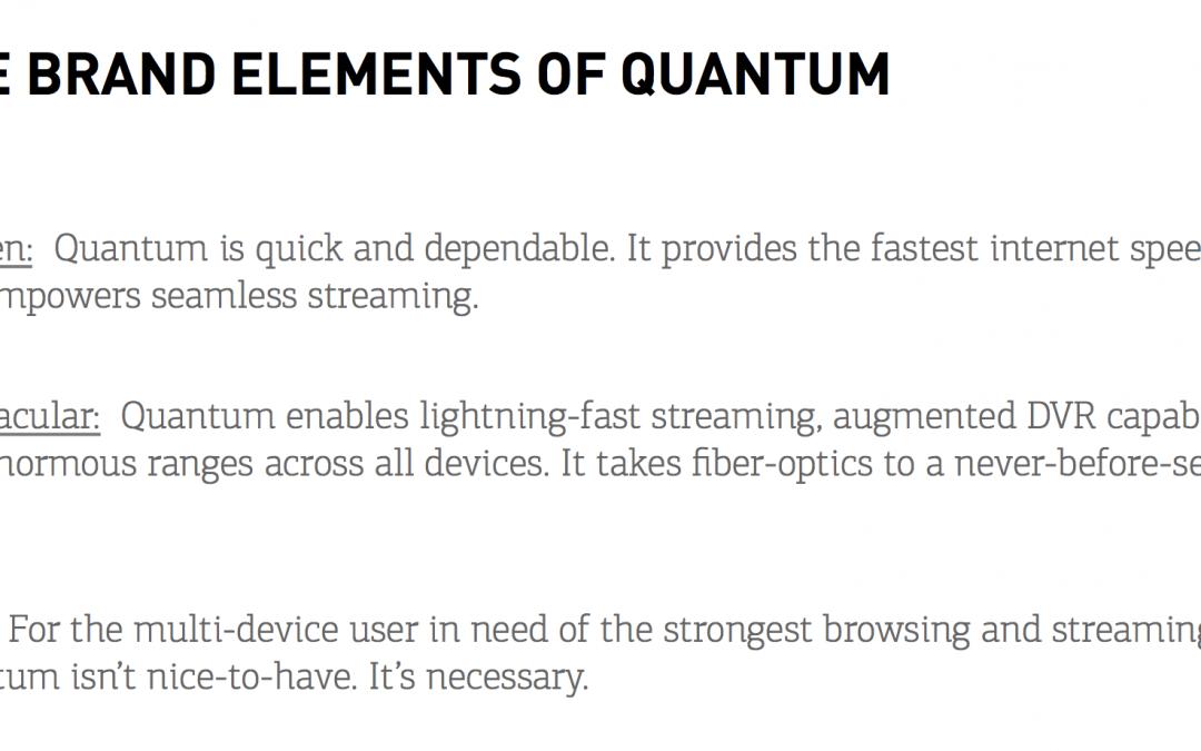 Executing the Quantum Brand Voice